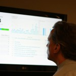 John Couretas checks on Acton's web analytics