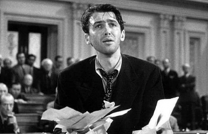 "Jimmy Stewart in ""Mr. Smith Goes to Washington"""
