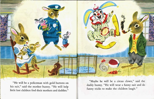 Bunny Book, Richard Scarry, policeman, circus clown