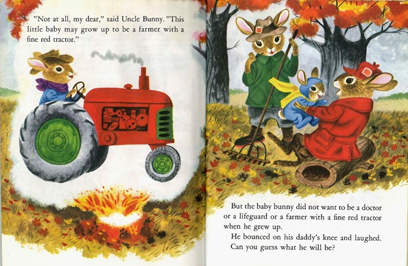 Bunny Book, Richard Scarry, farmer, tractor, dad