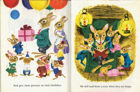 Bunny Book, Richard Scarry, birthday, book