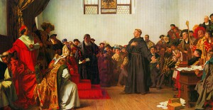 Luther before the Diet of Worms in 1521.