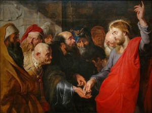 Painting of 'Render Unto Caesar' by Peter Paul Rubens.