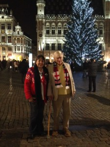 Peter and Hazelmary Bull visit La Grand-Place in Brussels