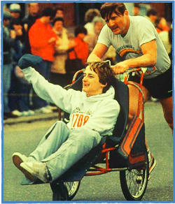 Dick and Rick Hoyt, Boston Marathon, 1981