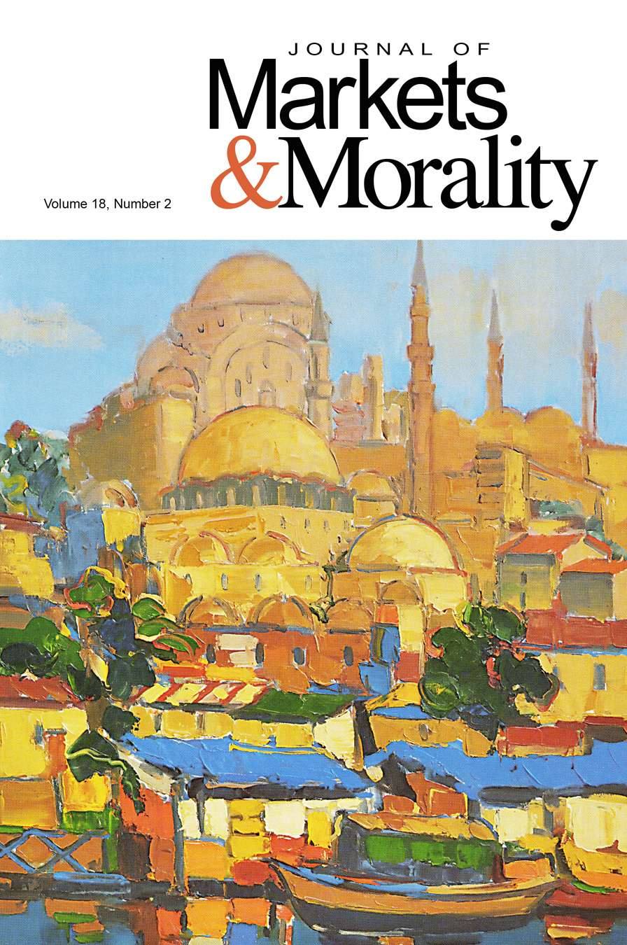 new issue of the journal of markets  u0026 morality  18 2   u2013 acton institute powerblog