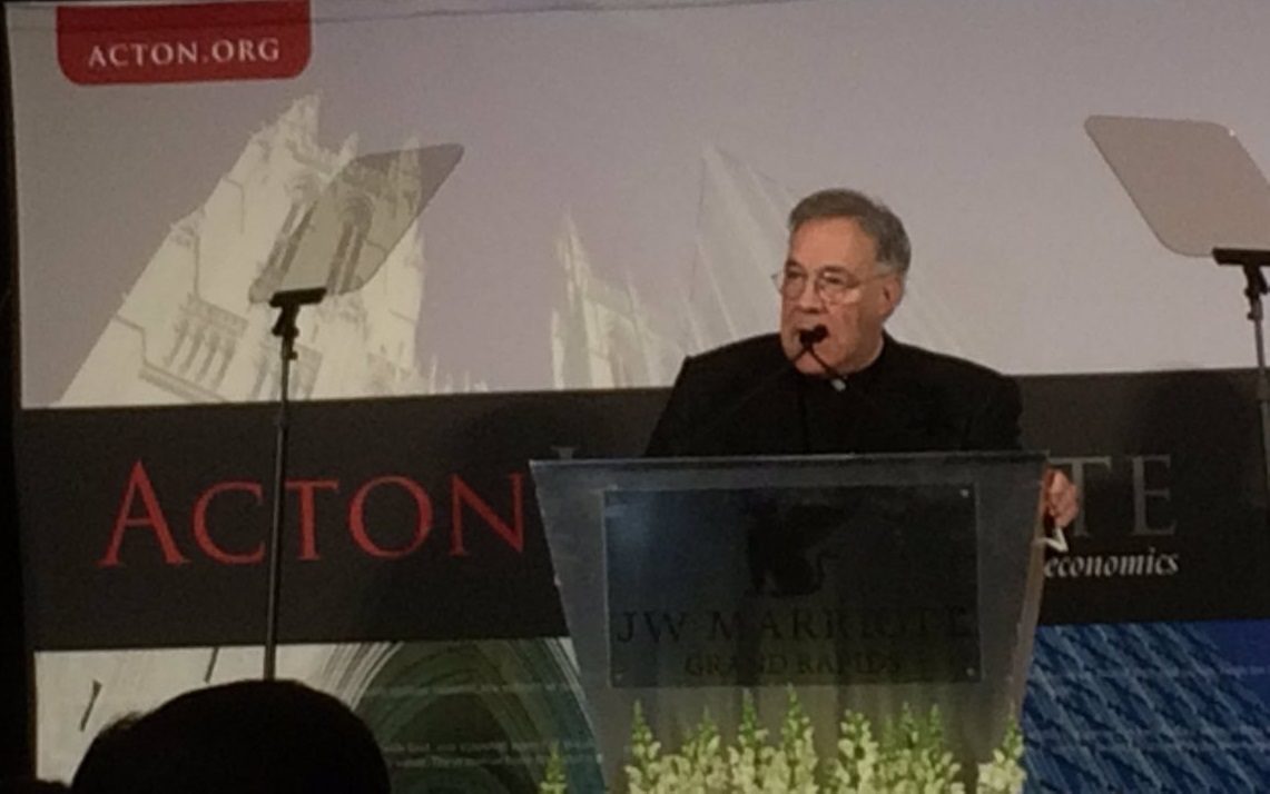 Father Robert Sirico photo from Alejandro Chafuen via Twitter