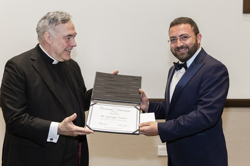 Giuseppe Franco receives the 2019 Novak Award