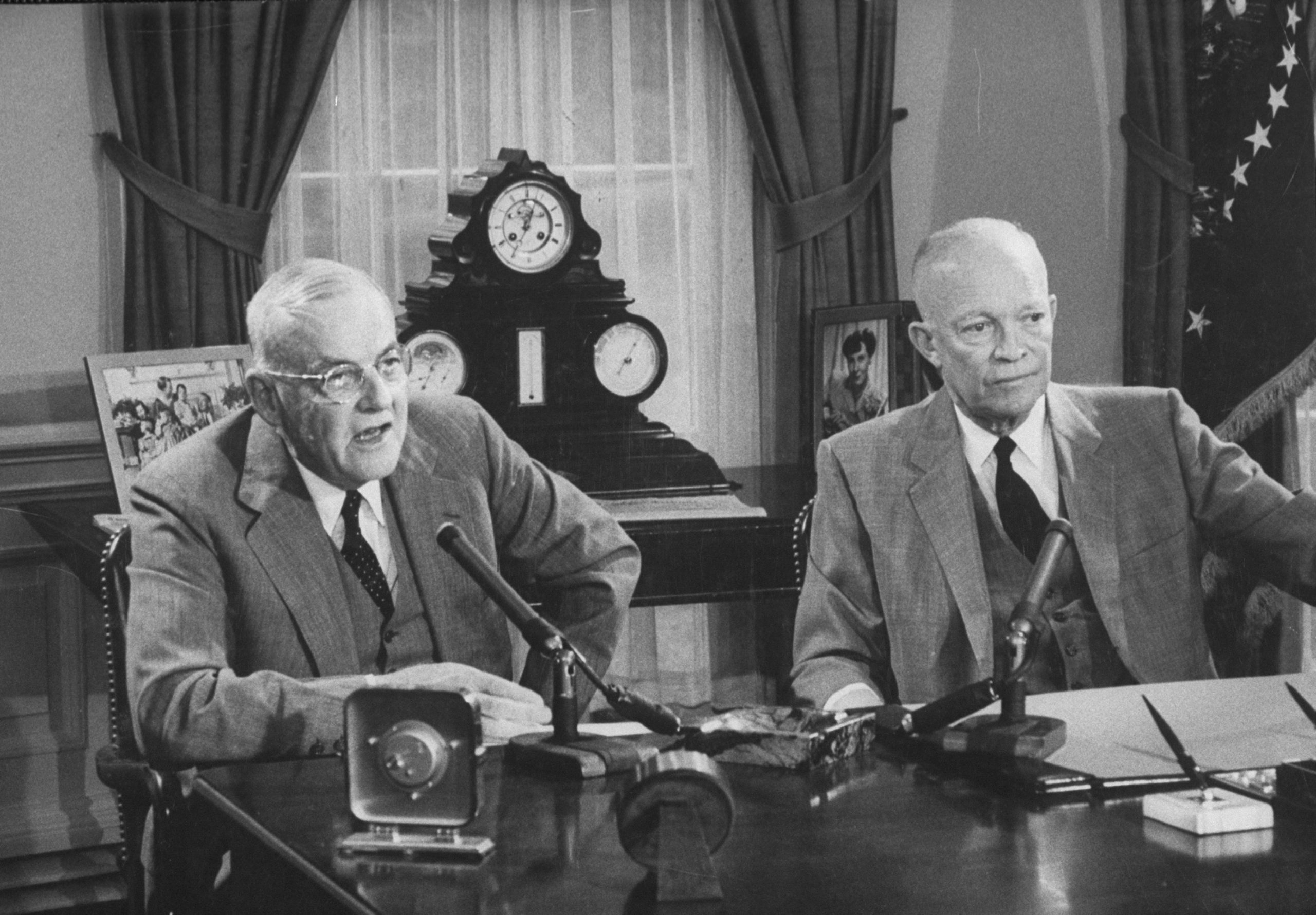 John Foster Dulles and Dwight Eisenhower